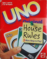 uno house rules board game