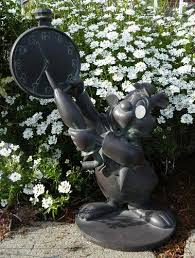wonderland white rabbit garden statue