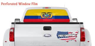 Ecuador Flag Car Window Wrap Decal Ecuador Car Graphics Etsy