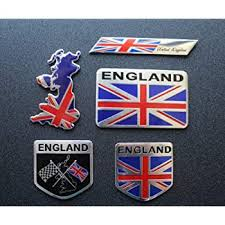 Amazon Com 5pcs England Flag Decal Sticker Emblem Made From Aluminum Alloy Perfect For Any Vehicle Truck Car Motorcycle Rv Scooter Suv Door Window Automotive