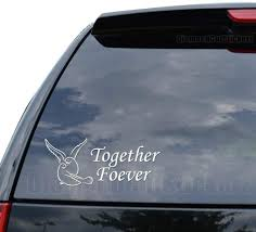 Amazon Com Together Forever Dove Bird Decal Sticker Car Truck Motorcycle Window Ipad Laptop Wall Decor Size 05 Inch 13 Cm Wide Color Matte White