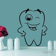 Smile Tooth Wall Decal Dental Clinic Nursery Vinyl Sticker Kids Room Healthcare Art Decal Adesivo De Parede Funny Stickers Tree Wall Decal Tree Wall Decals From Onlinegame 10 76 Dhgate Com