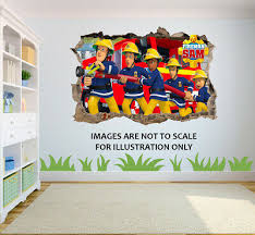 Rope Extend Stickers Graph Sticker Decalic Printed Wall Art Fireman Sam Swing