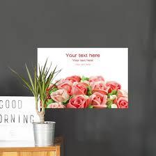 Congrats Rose Flower Cream Wall Decal Wallmonkeys Com