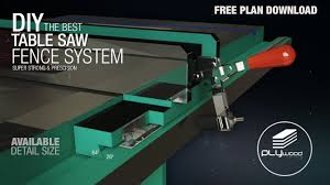 Diy Table Saw Fence System Youtube