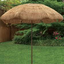 hawaiian tiki design beach umbrella
