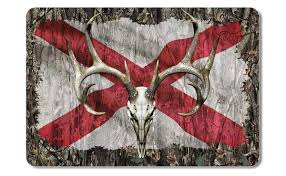 Alabama Whitetail Buck Skull Camo Cooler Lid Skin Decal Firehouse Graphics