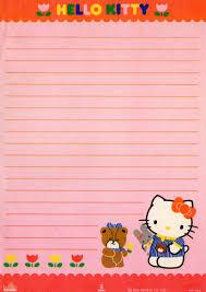 Hello Kitty Vintage Stationery Papel De Carta Hello Kitty
