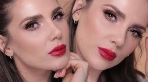 red lipstick makeup tutorial saubhaya