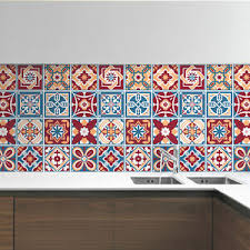 Classic Red Westminster Mosaic Tile Stickers Decal Kitchen Bathroom Living Stair Ebay