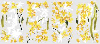Roommates Yellow Flower Arrangement Peel Stick Wall Decal At Menards