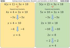 solving linear equations with a