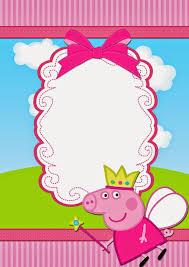 Invitaciones De Peppa Pig Con Imagenes Invitaciones De Peppa