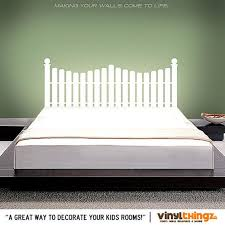Headboard Decal Vinyl Wall Decal Queen Full Twin Size Bed Etsy