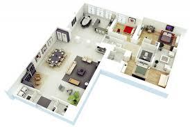 3 bedroom 3d floor plans