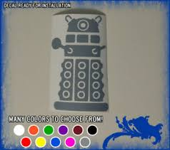 6 Doctor Who Dalek Vinyl Sticker Dr Police Box Time Lords Bbc Car Window Decal Ebay