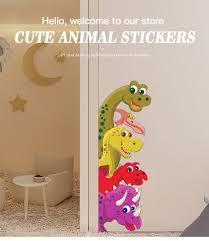 Funny Probe Dinosaur Behind The Door Room Decor Wall Decals Stickers Children Nursery Kids Bedroom Living Room Mural Wall Art Wall Stickers Aliexpress