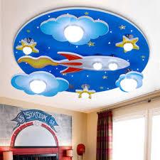 Amazon Com Lakiq Kids Room Modern Led Chandelier Blue Creative Flush Mount Light With Cartoon Cloud Plane Star 8 Lights Close To Ceiling Lighting Fixture For Childrens Room Bedroom Style B Home Improvement