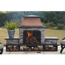 steel wood burning outdoor fireplace