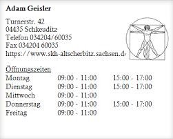Adam Geisler ▷ Neurologen in Schkeuditz Dölzig - Öffnungszeiten