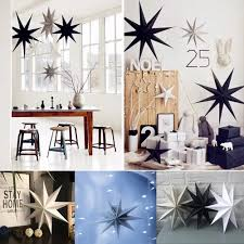 Vova Hyjm 30cm Nine Pointed Star Paper Hanging Decoration For Kids Room Party Classroom