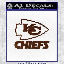 Kansas City Chiefs Decal Sticker A1 Decals