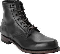 frye arkansas mid mens black leather