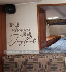 Travelers Wall Decal For Camper Decor Home Wherever We Are Together