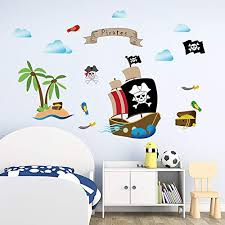 Decalmile Pirate Ship Wall Decals Kids R Buy Online In Egypt At Desertcart