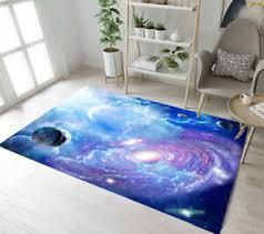 Planet Galaxy Cloud Moon Space Stars Area Rugs Kid Bedroom Living Room Floor Mat Ebay