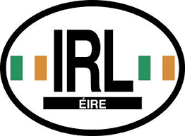 Ireland Oval Car Decal
