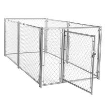 Lucky Dog 4 Ft H X 5 Ft W X 10 Ft L Modular Chain Link Kennel Kit Cl 44150 The Home Depot