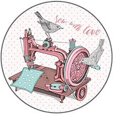 Amazon Com Dark Spark Decals Sew With Love Old Sewing Machine With Bird 5 Inch Full Color Vinyl Decal For Indoor Or Outdoor Use Cars Laptops Decor Windows And More Automotive