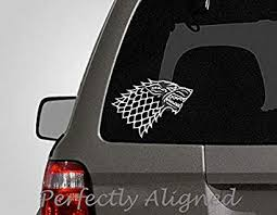 Amazon Com Celycasy Car Decal 7 Game Of Thrones Inspired Direwolf Style 2 House Stark Crest Car Decal Baby