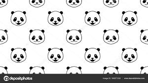 bear polar bear panda seamless pattern