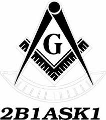 White Vinyl Decal Past Master Symbol With 2b1ask1 Car Truck Masonic Ebay