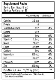 chemical consuents of noni