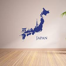 Japan Map Wall Decal Style And Apply