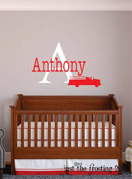 Firefighter Decor Childrens Name Firefighter Wall Decal Etsy