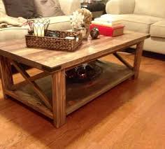 rustic x coffee table do it yourself