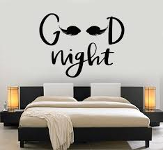 Vinyl Wall Decal Phrase Good Night Eyes Bedroom Decoration Stickers Mu Wallstickers4you