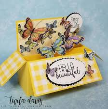 It's 3-D Thursday and we have a beautiful Botanical Butterfly Box Card for  you! – Sarahs Ink Spot