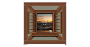 Faux Window Frame Decal Wall Mural Zazzle Com