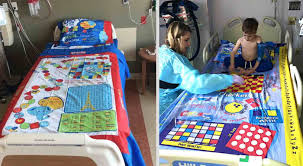 Dad Turns Board Games Into Bed Sheets So Sick Kids Lying In Hospitals Won T Get Bored