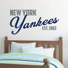 Amazon Com Wall Stickers Quotes Vinyl Art Room Mural Posters New York Yankees Yankee Wall Decal Baseball Decorations For Living Room Bedroom Baby