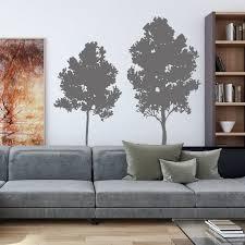 Silhouette Tree Wall Stickers Living Room Decor Wall Vinyl Etsy