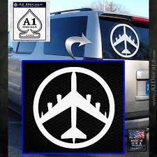 Peace Bomber B 52 Decal Sticker A1 Decals