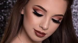 warm brown makeup tutorial fall