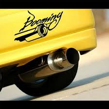 Booming Exhaust Jdm Modified Car Decal Sticker New Idea Stickers