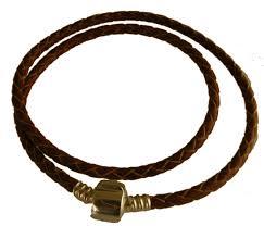 black leather bracelet with barrel